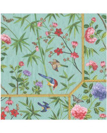 """nl12932 350x435 - Servietter - """"Chinese wallpaper"""""""