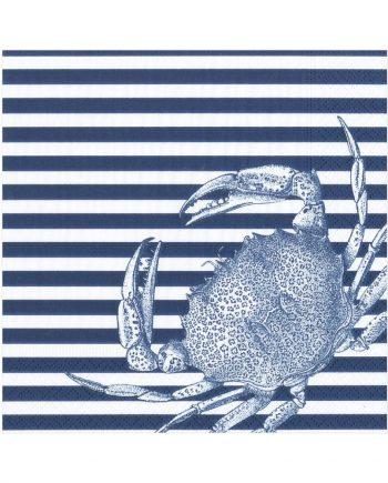 "nl14571 1 350x435 - Servietter - ""Blue craps and strips"""