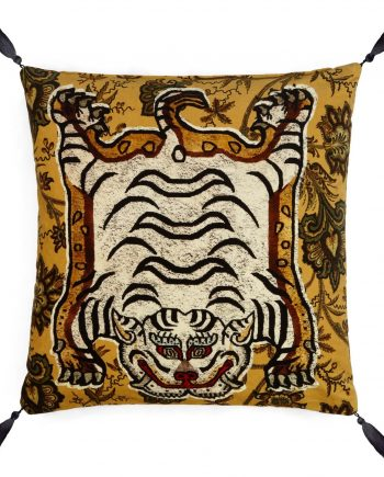 tigris large velvet tassel cushion indienne ochre 1 350x435 - Pute - Tigris, Velvet - House of Hackney