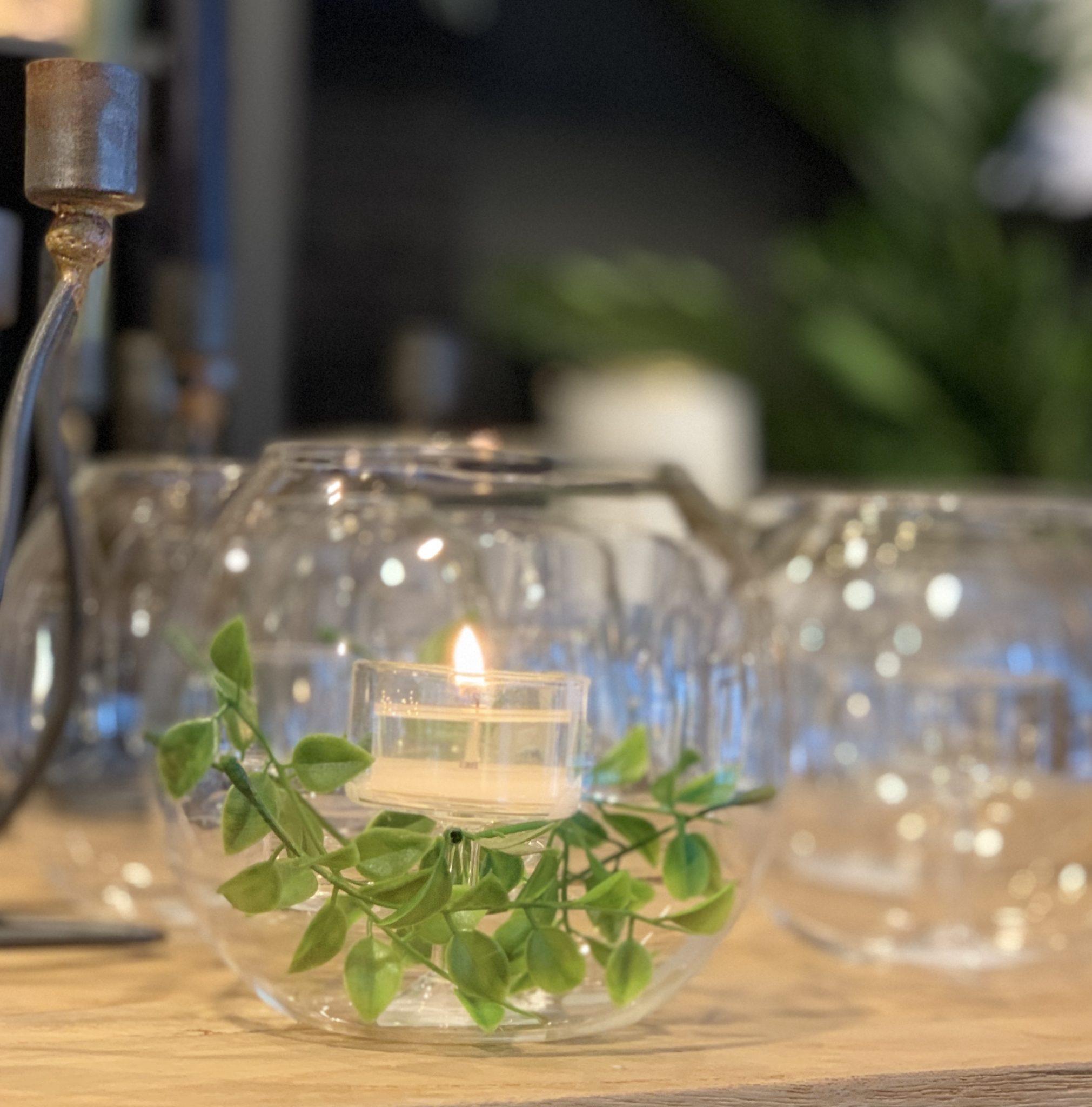 Lyslykt/vase – «rund»