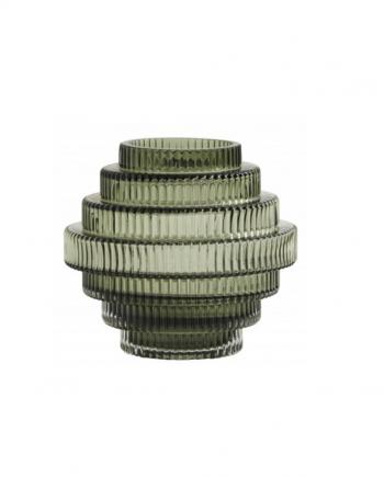 """Skjermbilde 2020 09 30 kl. 12.01.51 350x435 - Vase - """"Rilla"""" grønt glass, small"""