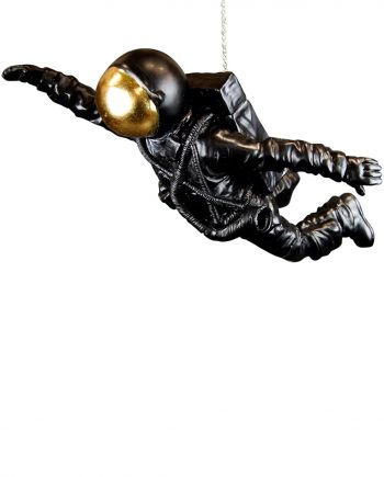 "NY9342351 1 350x435 - Astronaut ""flying"" - Black & gold"