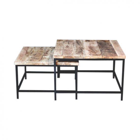 TD675 1 570x570 - Sofabord i tre og metall - Set á 2 stk