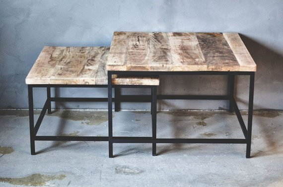 TD675 570x377 - Sofabord i tre og metall - Set á 2 stk