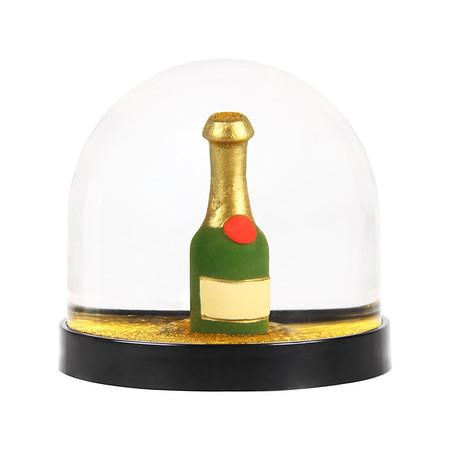 1031 59 M - Snøkule - Champagne bottle