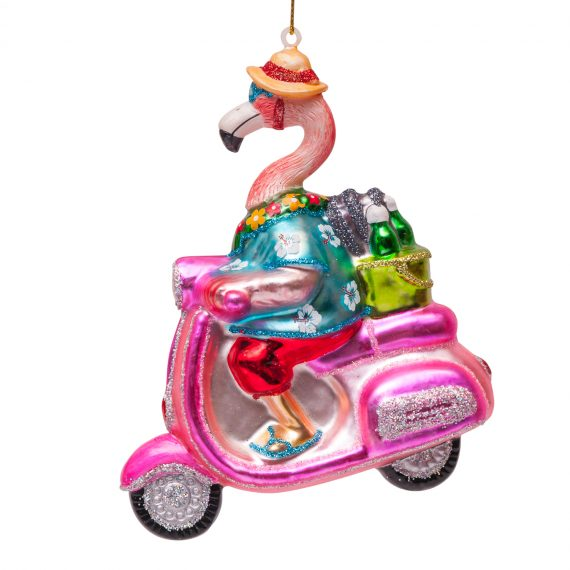 "1162300140011.org  570x570 - Julepynt - "" Flamingo on scooter"""