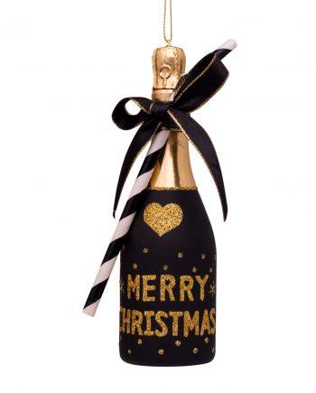 1182850160031.org  350x435 - Julepynt - Glass black champagne bottle
