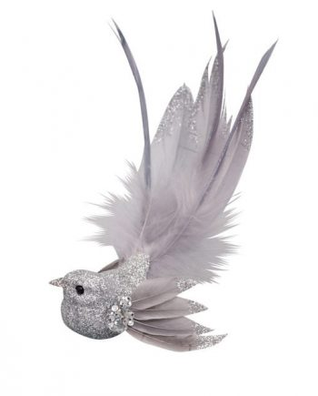 3172300150017.web  e1570789842908 350x435 - Julepynt - Bird silver w/wings & long tail