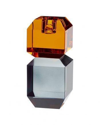 """340702 350x435 - Lysestake """"amber/røkt"""" - Glass"""