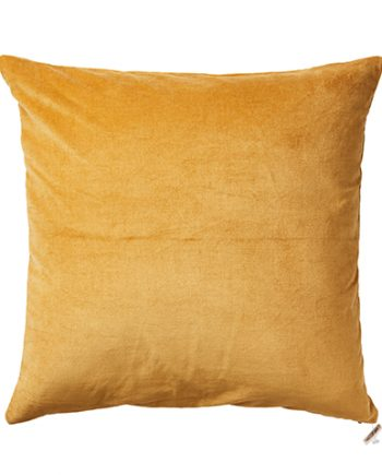 "070 371 20 350x435 - Putetrekk - ""Toulouse"" mustard, velur 50x50 cm"