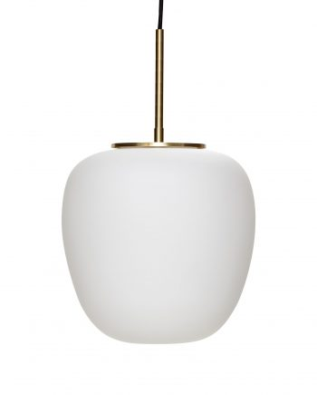 990723 350x435 - Taklampe - Hvitt, glass & messing, small