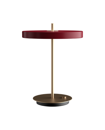 "Packshot 2309 Asteria table ruby red 1024x1024 25419c69 9397 4fb9 94b9 598302b2a615 1800x 350x435 - Bordlampe ""Asteria"" - Rubin rød"