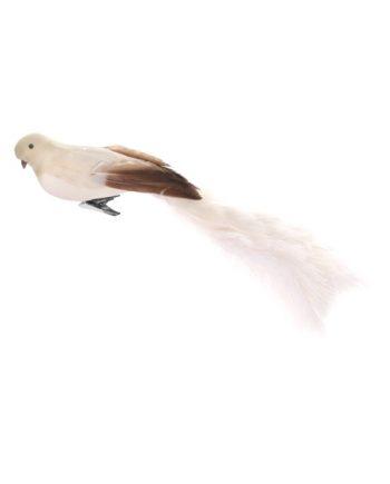 Skjermbilde 2019 10 10 kl. 21.04.40 350x435 - Fugl - Bird with clip cream ostrich tail