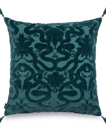 anaconda large velvet jacquard cushion petrol 1 350x435 - Pute - Anaconda, velvet, House of Hackney
