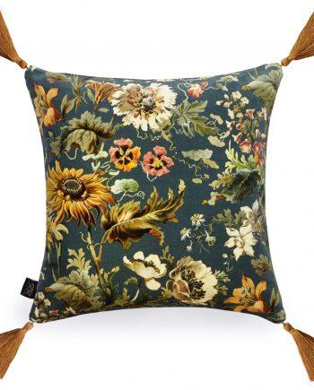 avalon medium velvet cushion petrol 1 350x435 - Pute - Avalon, velvet, House of Hackney