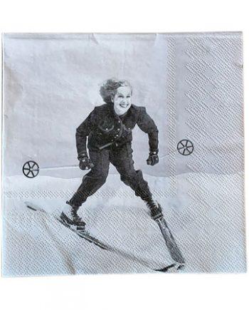 "L66934 1 350x435 - Servietter - ""Dame på ski"""