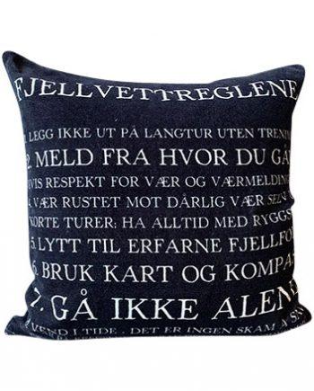 "T52911 1 350x435 - Putetrekk - ""Fjellvettreglene"", velur 50x50 cm"