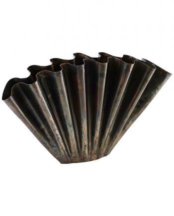 "cb1200 01 350x435 - Vase ""flood"" - Antique brown"