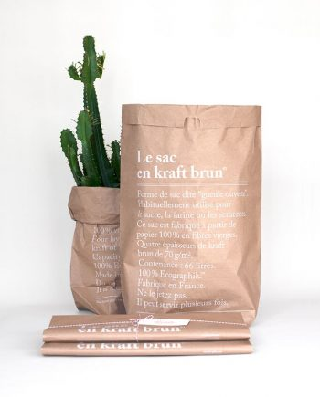 "BbaZ369g 350x435 - Papirpose "" Le sac"" - 66 L brun"