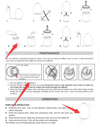manual - Aroma Diffuser - Marmorgrå