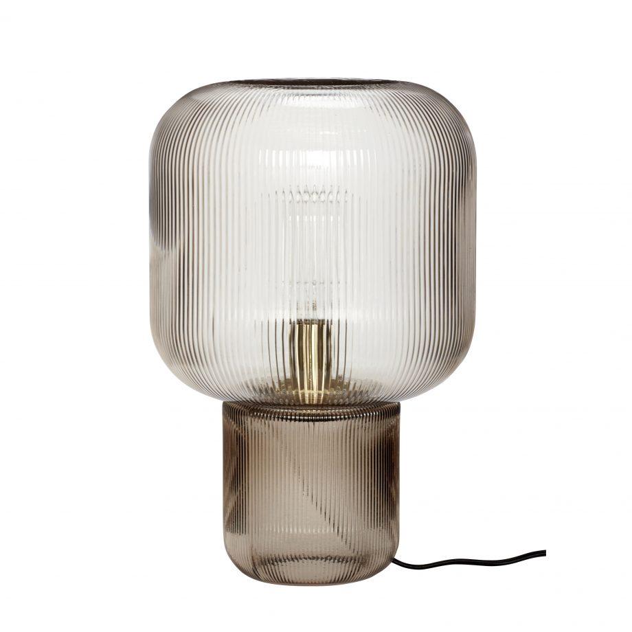 """991206 920x920 - Bordlampe """"Røkt glass"""""""