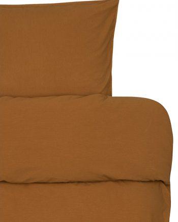 froya organic cotton ochre detalj e1600679174974 350x435 - Sengesett - Oker