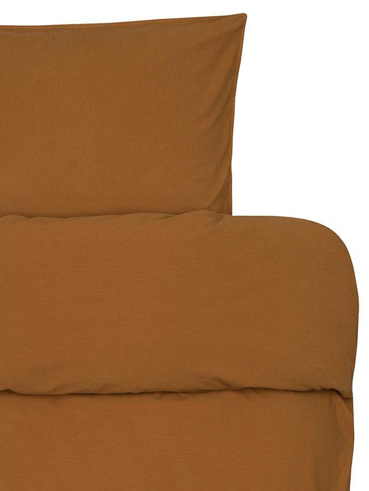 froya organic cotton ochre detalj e1600679174974 - Sengesett - Oker
