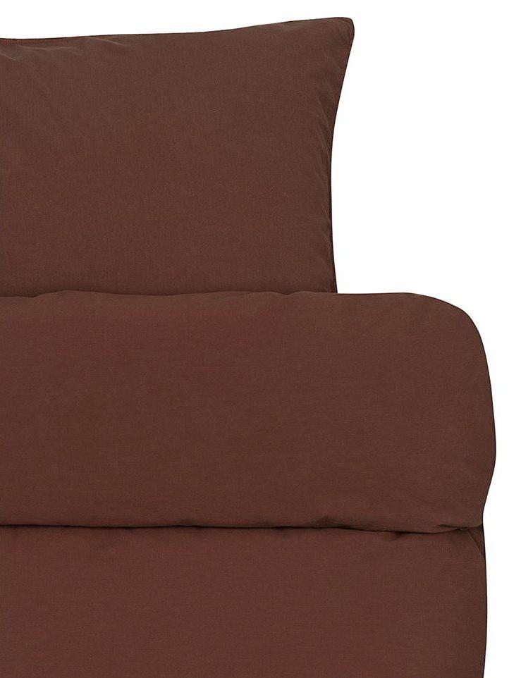 froya organic cotton reddish brown detalj e1600679285545 - Sengesett - Rødbrun