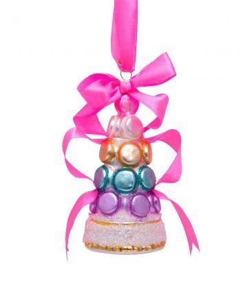 1192810120012.org  350x435 - Julepynt - Glass  multi soft color macaron, tower w/bow