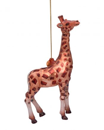 2181230130014.org  350x435 - Julepynt - Glass brown giraffe