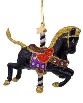 2202210090019.web  350x435 - Julepynt - Glass black carousel horse