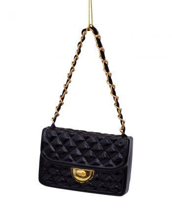 3207000070096 1 350x435 - Julepynt - Glass black fashion bag