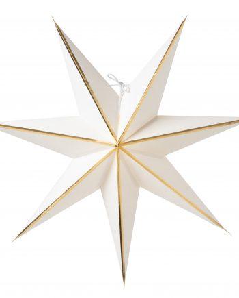 Julia 60 white 350x435 - Adventsstjerne - Julia 60 white, gold strip