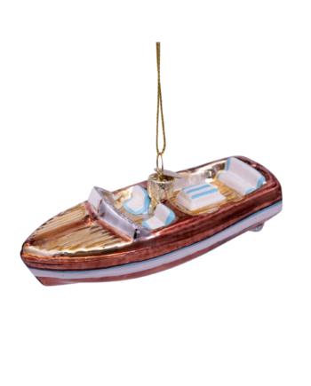Skjermbilde 2021 10 08 kl. 09.19.00 350x435 - Julepynt - Glass brown/white boat