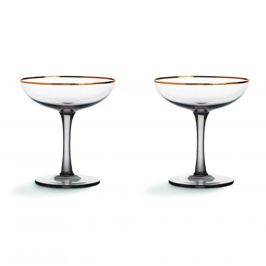 329 01 920x920 - Champagne glass - smoked, set á 2 stk