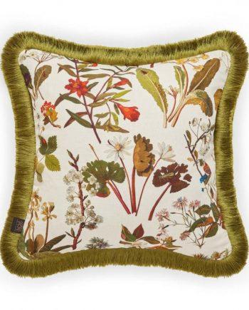herbarium medium fringed cotton linen cushion ecru 1 350x435 - Pute - Herbarium, Ecru