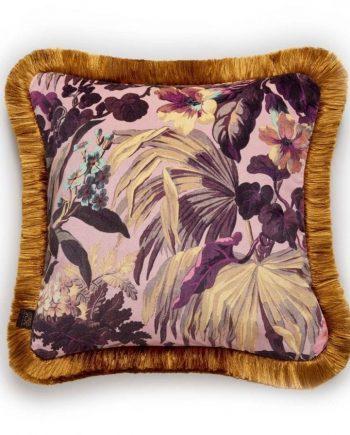 limerence medium fringed velvet cushion rose quartz 1.1579101595 350x435 - Pute - Limerence, fringed velvet, Rose Quartz