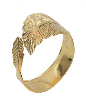 """163567 350x435 - Serviettring """"gold leaf"""" - 4 pk"""