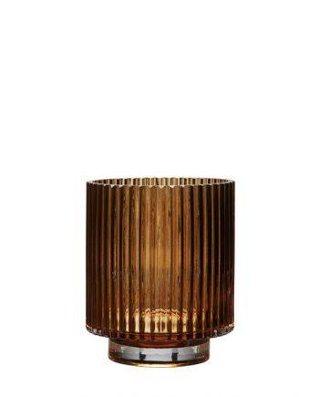 """68644 350x435 - Vase - """"riffla"""" Amber - small"""