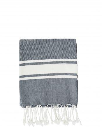 """max20 ft001 350x435 - Håndkle """"striped"""" mørk blå - 100x180 cm"""