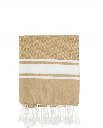"max20 ft002 350x435 - Håndkle ""striped"" oker - 100x180 cm"