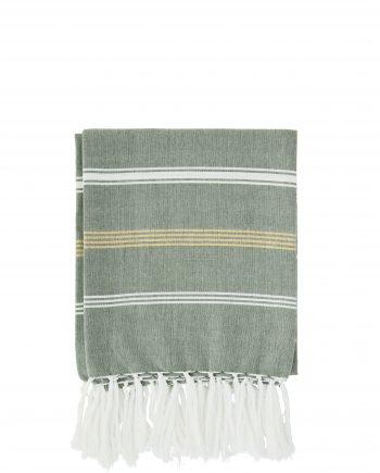 """max20 ft006 350x435 - Håndkle """"striped"""" grønn - 100x180 cm"""