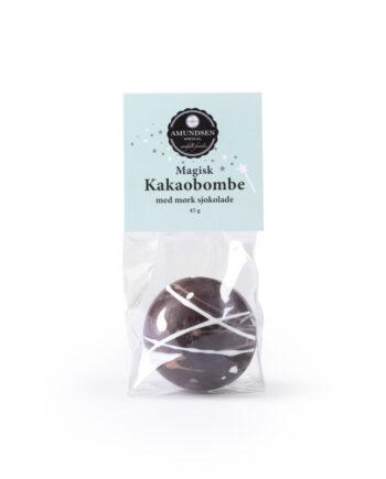 Amundsen Spesial Kakaobombe MA¸rk sjokolade 350x435 - Kakaobombe m/ minimarshmallows - Mørk sjokolade