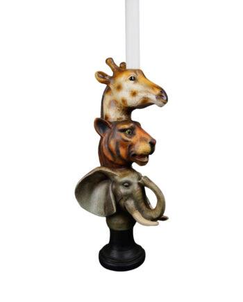 "FB20S34 1 350x435 - Lysestake ""Animal head"" - Kronelys"