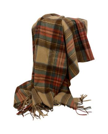 """IMG 3282 350x435 - Pledd - """"Stewart Dress Antique Tartan"""" - 100 % lammeull 150x200 cm"""