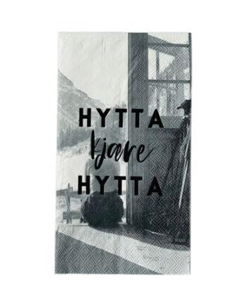 """L66107 350x435 - Servietter - """"Hytta kjøre hytta"""" avlang"""