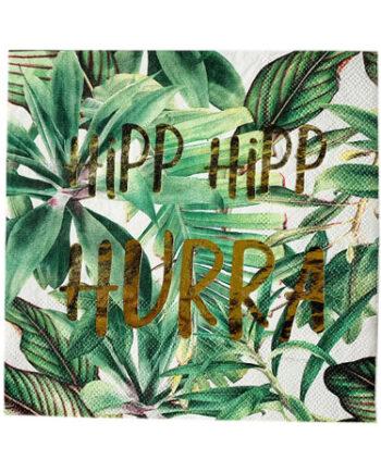 "L66114 350x435 - Servietter - ""Hipp hipp hurra"" botanisk"