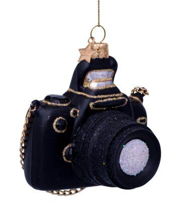 "1182800090012.web  350x435 - Julepynt - ""Gold/black camera"""