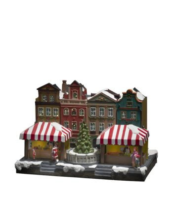 4231 000.I.1.0 350x435 - Julelandsby - Julemarked, fiberoptisk med musikk og lys