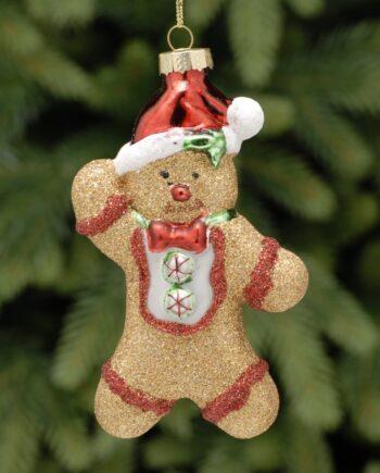 P034935 350x435 - Julepynt - Gingerbread man v/hat